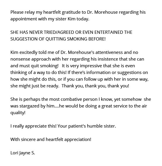 Patient Review for Dr Todd Morehouse ENT Lori Jayne S