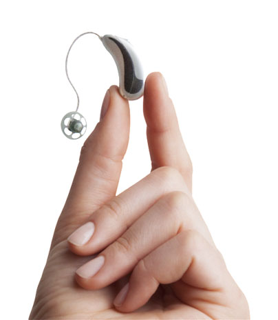 Audicus Oro BTE RIC Hearing Aid with Telecoil and Bluetooth Wireless Technology