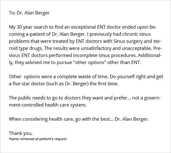 BergerHenry ENT Doctors Review