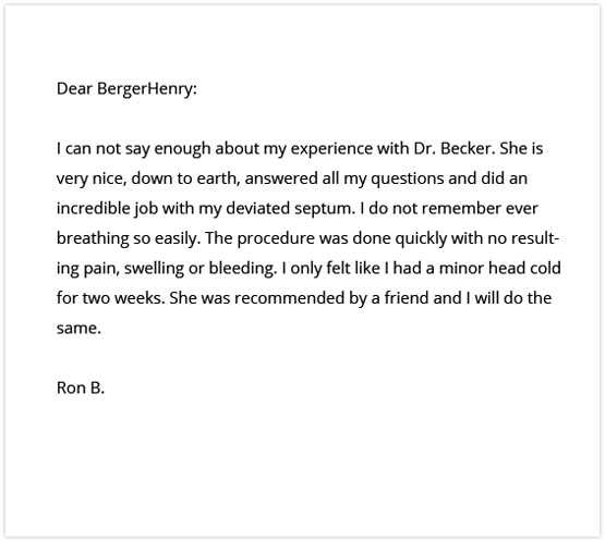 Berger Henry Deviated Septum Surgery Review Dr Marta Becker