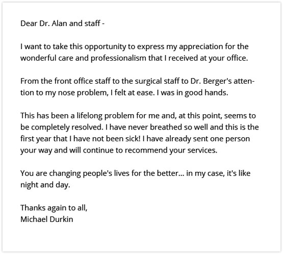 Sinus Review from Michael D for Dr Alan Berger