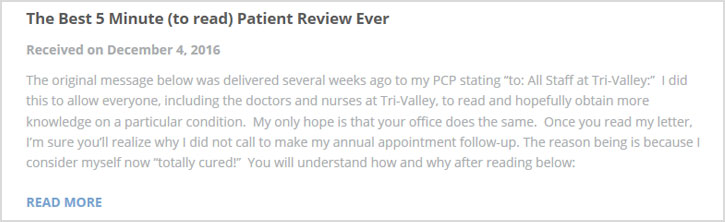 Dr. Alan Berger - The Best 5 Minute Patient Review Ever
