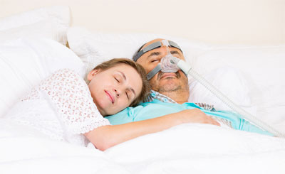 The CPAP is the most common and efficient method for treating sleep apnea